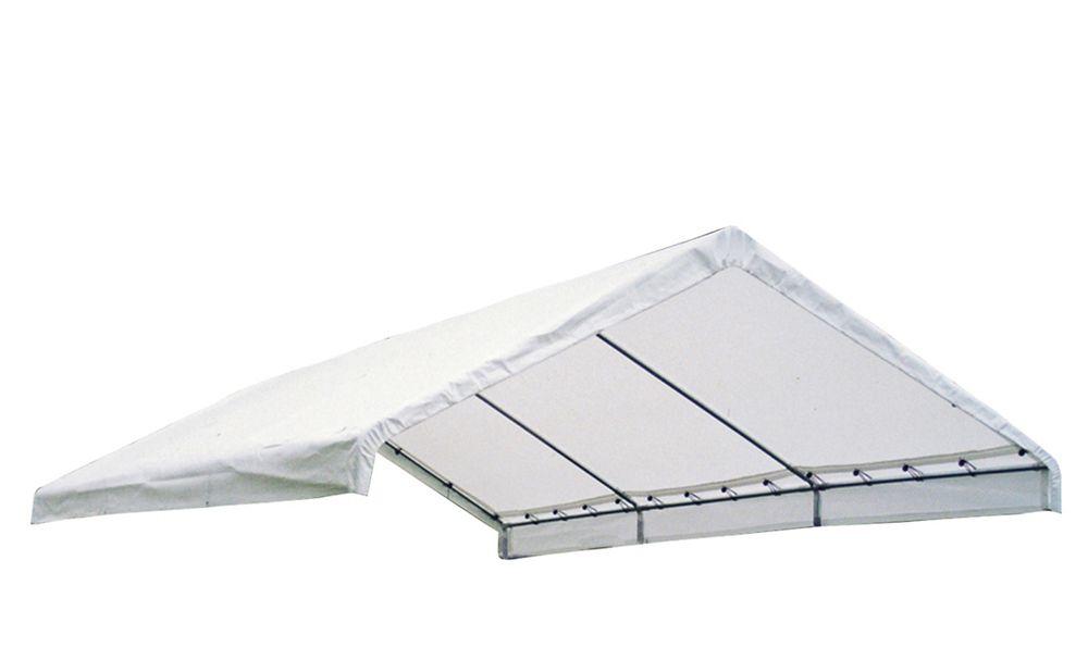 5,5 m x 12,2 m Couverture blanche de remplacement d'auvent pour structure 2 catégorie FR