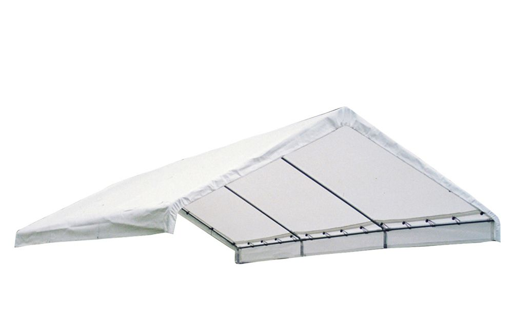18×40 Canopy White Replacement Cover for 2 Inch  Frame FR Rated