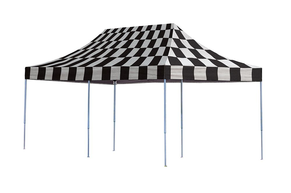 10 Feet  x 20 Feet  Pro Pop-up Canopy Straight Leg Checkered Flag Cover