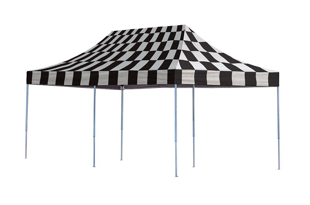 10 Feet  x 20 Feet  Pro Pop-up Canopy Straight Leg Checkered Flag Cover