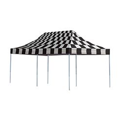 ShelterLogic 10 ft. x 20 ft. Pro Pop-Up Canopy with Straight Legs & Checkered Flag Cover
