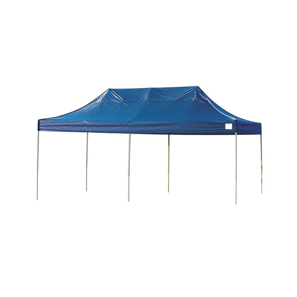 10 Feet  x 20 Feet  Pro Pop-up Canopy Straight Leg Blue Cover
