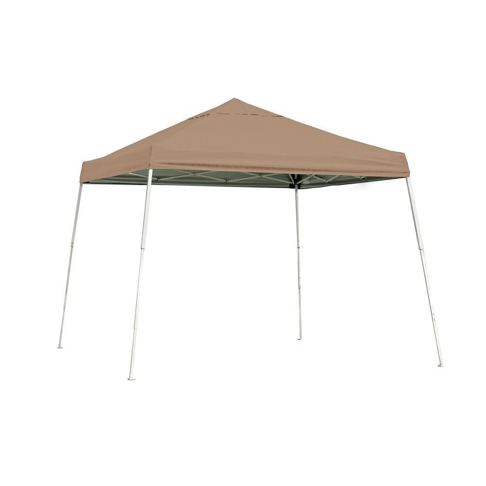 10  Feet  x 10  Feet  Sport Pop-up Canopy Slant Leg Desert Bronze Cover
