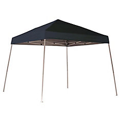 10 ft. x 10 ft. Sport Pop-Up Canopy with Slant Legs & Black Cover