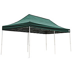 10 ft. x 20 ft. Pro Pop-Up Canopy with Straight Legs & Green Cover