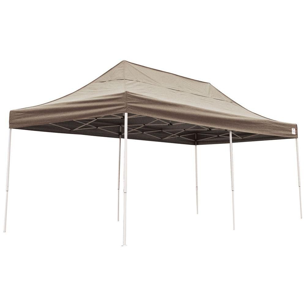 10 ft. x 20 ft. Pro Pop-Up Canopy with Straight Legs & Desert Bronze Cover