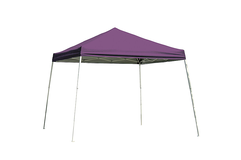 8 ft. x 8 ft. Sport Pop-Up Canopy with Slant Legs & Purple Cover