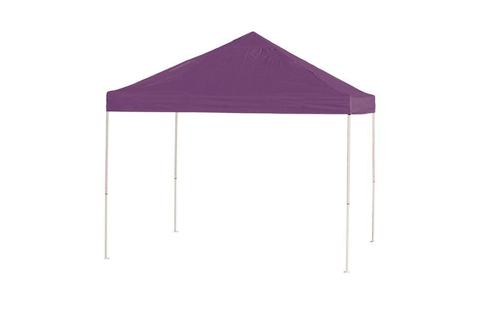 10  Feet  x 10 Feet  Pro Pop-up Canopy Straight Leg Purple Cover