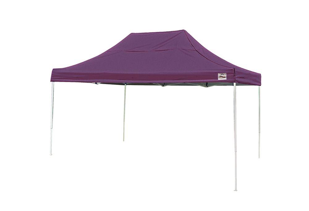 10  Feet  x 15 Feet  Pro Pop-up Canopy Straight Leg Purple Cover