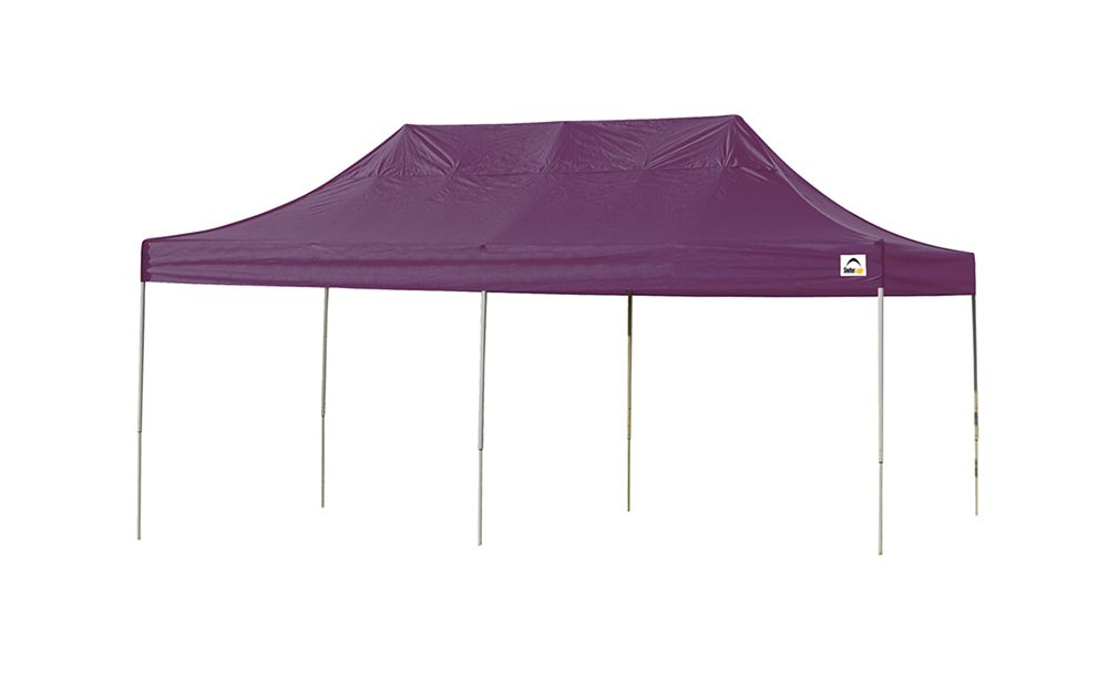 10  Feet  x 20 Feet  Pro Pop-up Canopy Straight Leg Purple Cover