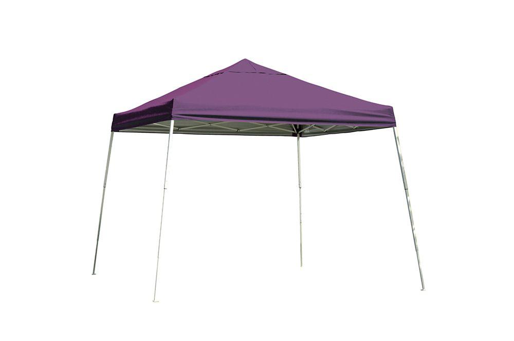 12  Feet  x 12 Feet  Sport Pop-up Canopy Slant Leg Purple Cover
