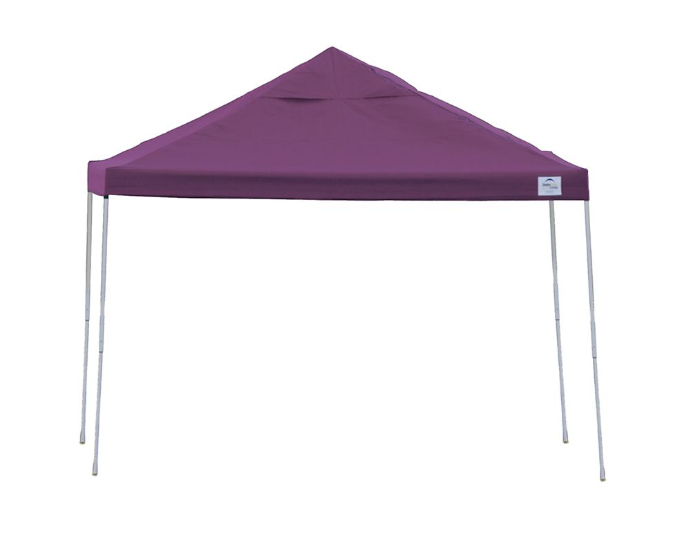 12  Feet  x 12 Feet  Pro Pop-up Canopy Straight Leg Purple Cover