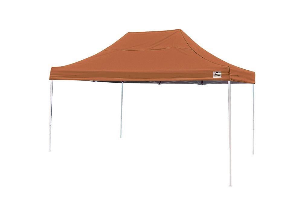 10  Feet  x 15  Feet  Pro Pop-up Canopy Straight Leg Terracotta Cover