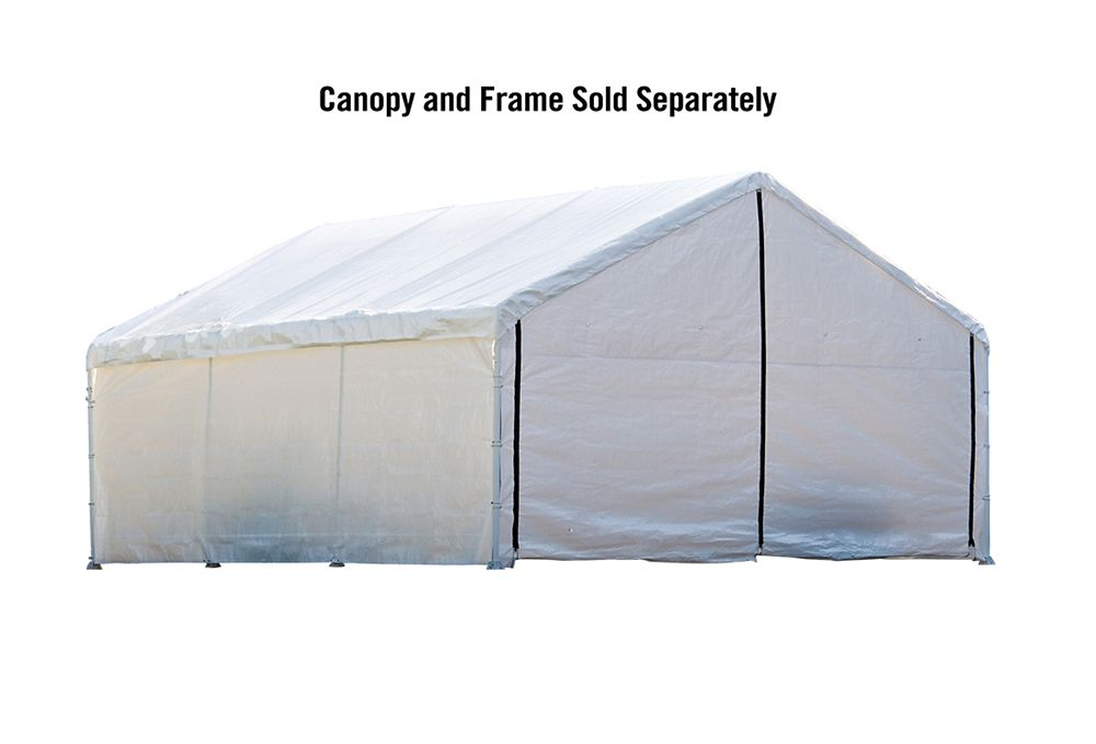 5,5 m x 12,2 m Kit blanc de fermeture d'auvent catégorie FR