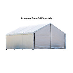 ShelterLogic 18 ft. x 40 ft. White Canopy Enclosure Kit
