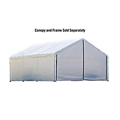 18 ft. x 40 ft. White Canopy Enclosure Kit