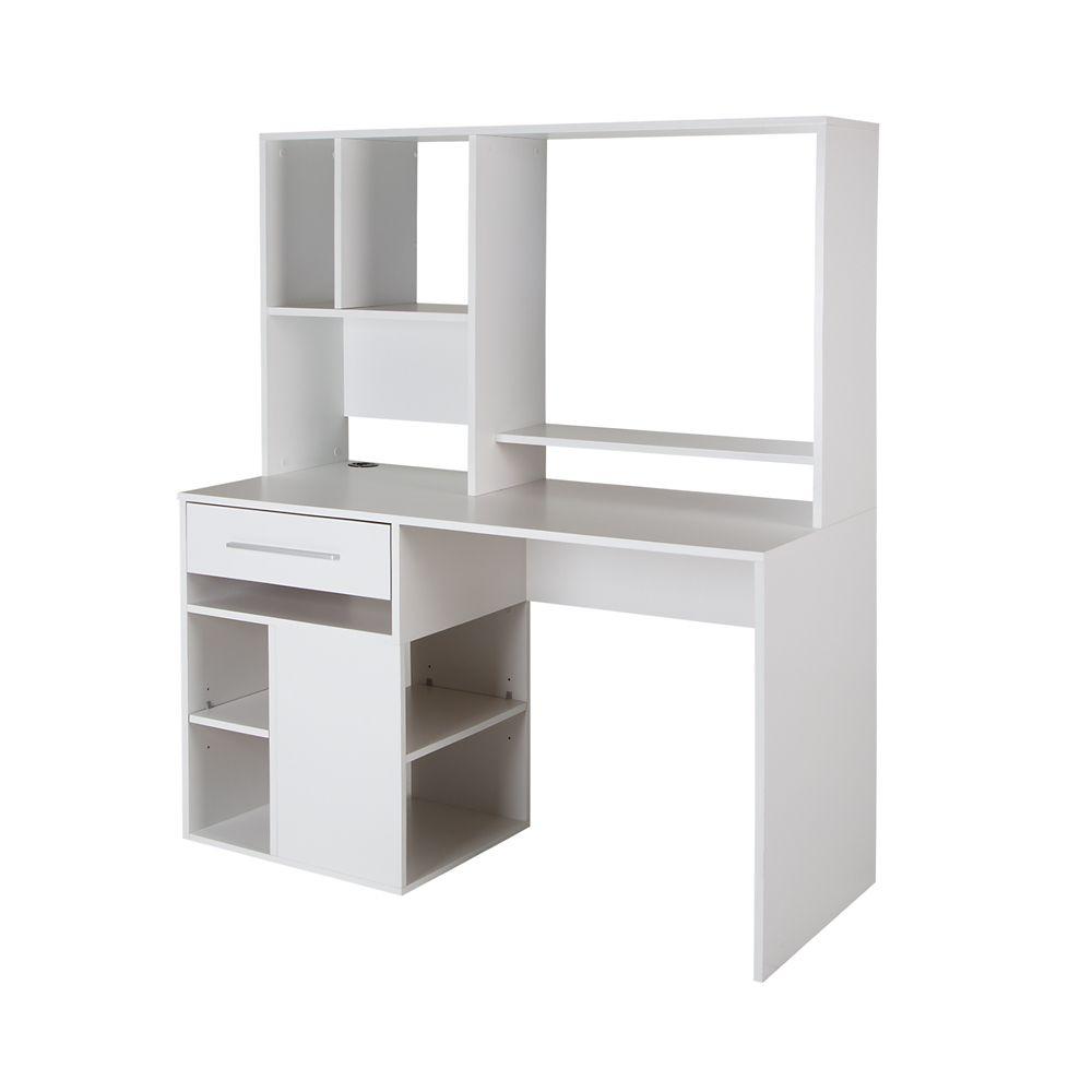 Annexe Home Office Computer Desk, Pure White