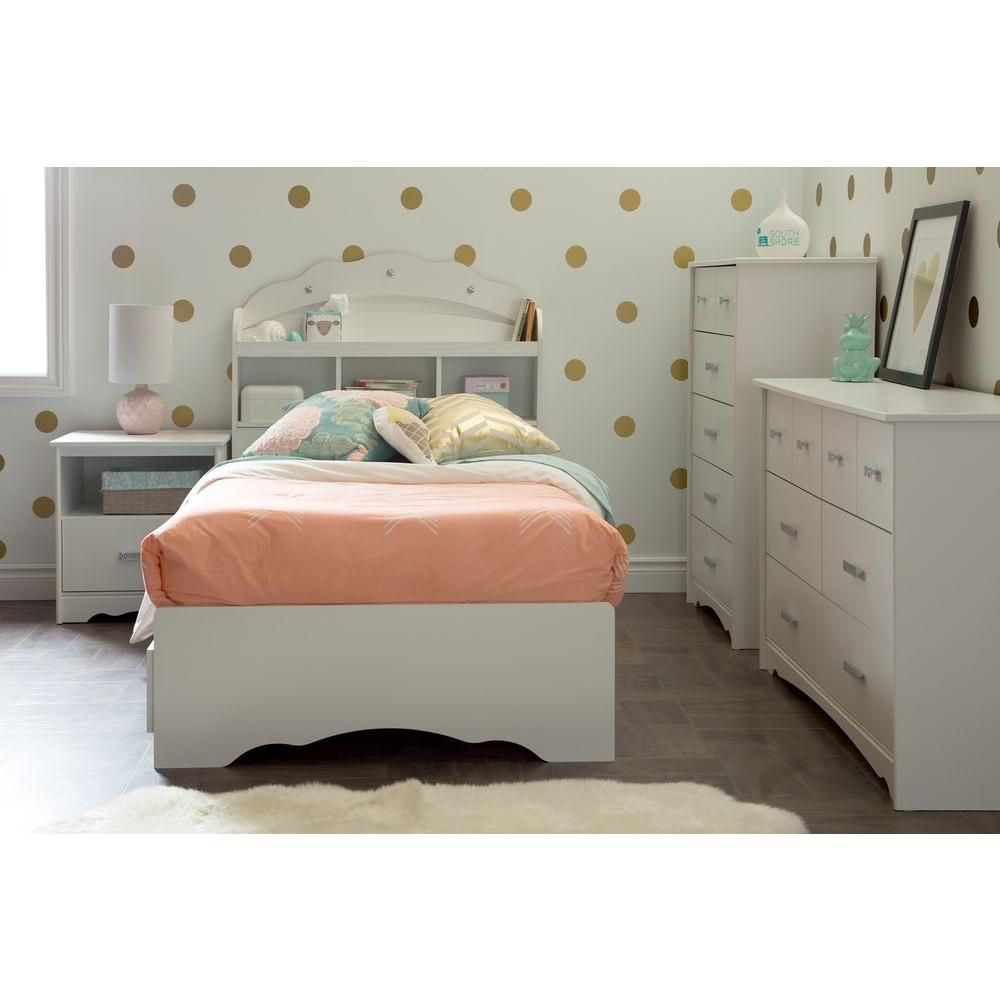 Tiara 6-Drawer Double Dresser, Pure White