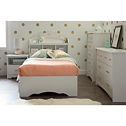 Tiara 5-Drawer Chest, Pure White