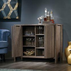 Sauder Meuble de rangement décoratif International Lux avec finitions en chêne style fusain