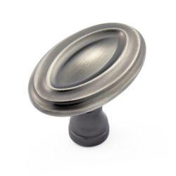 Richelieu Bouton traditionnel en métal  Nickel antique - Boucherville Collection