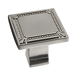 Richelieu Traditional Metal Knob  Brushed Nickel - Brossard Collection