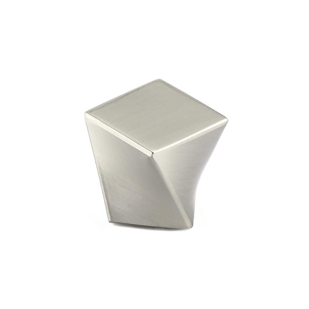 Richelieu Contemporary Metal Knob  Brushed Nickel - Highland Collection