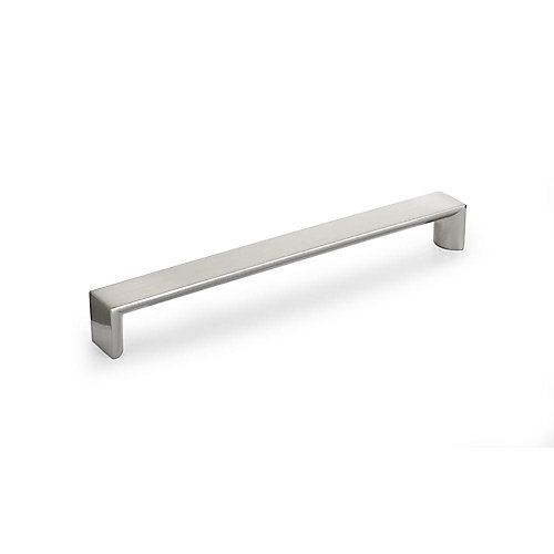 Contemporary Metal Pull 7 9/16 in (192 mm) CtoC - Brushed Nickel  - Fort Greene Collection