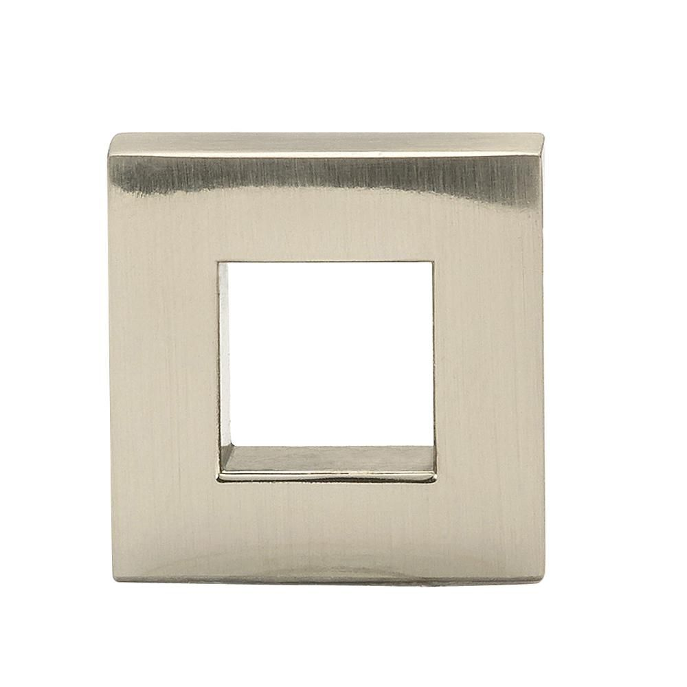 Richelieu Contemporary Metal Knob  Brushed Nickel - Victoria Collection