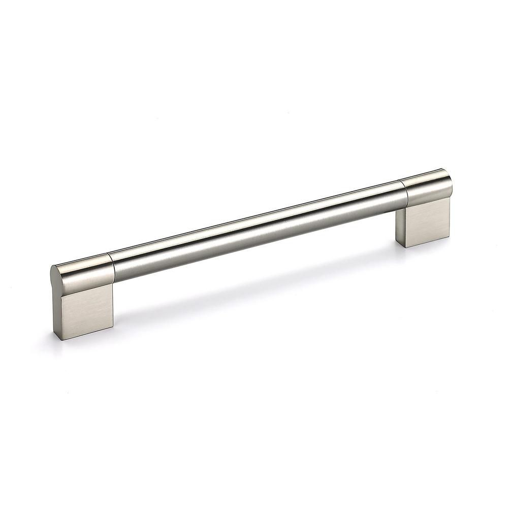 Richelieu Contemporary Stainless Steel Pull 7 3/32 in (180 mm) CtoC - Brushed Nickel  - Avellino Collection