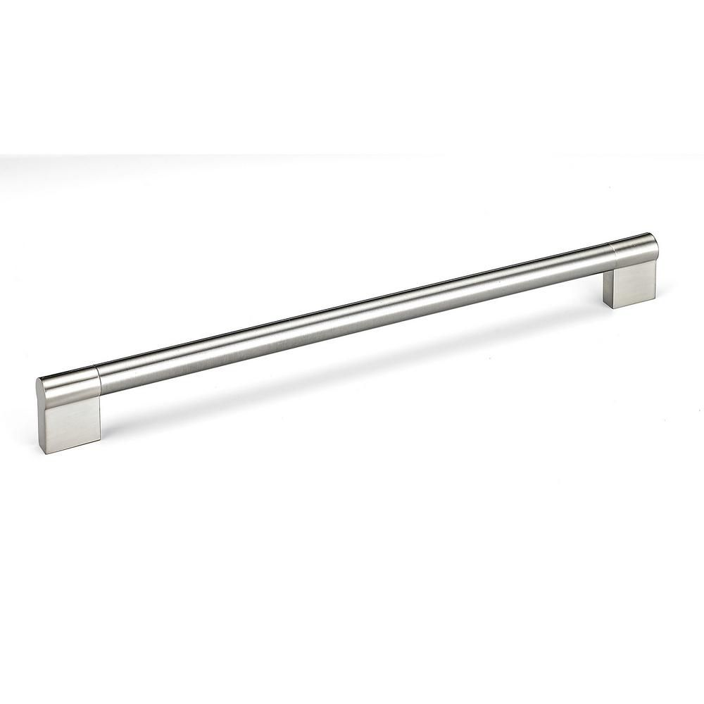 Richelieu Contemporary Stainless Steel Pull 11 3/8 in (288 mm) CtoC - Brushed Nickel  - Avellino Collection