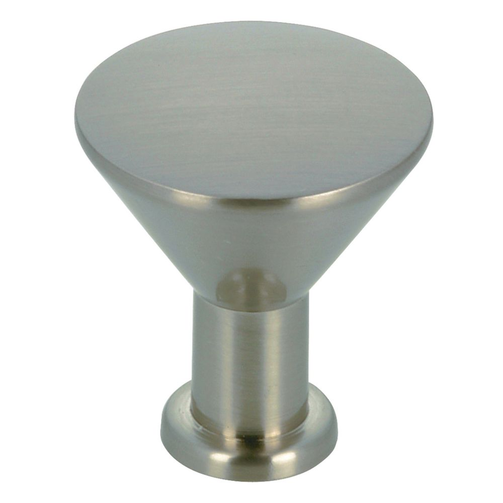 Richelieu Contemporary Metal Knob 7/8 in (22 mm) Dia - Brushed Nickel - Sunalta Collection