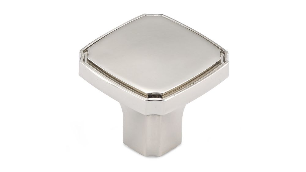 Transitional Metal Knob  Polished Nickel - Lorraine Collection