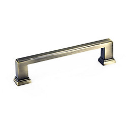Richelieu Transitional Metal Pull 5 1/32 in (128 mm) CtoC - Antique English  - Mirabel Collection