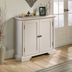 Sauder New Grange Accent Storage Cabinet in Cobblestone