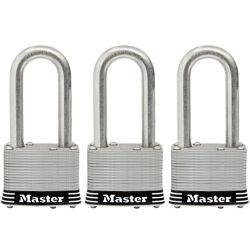 Master Lock 2inch (51mm) Wide Laminated Stainless Steel Pin Tumbler Padlock