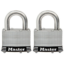 Master Lock 2inch (51mm) Wide Laminated Stainless Steel Pin Tumbler Padlock