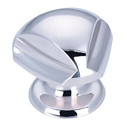 Richelieu Contemporary Brass Knob - Chrome - 30 mm Dia.
