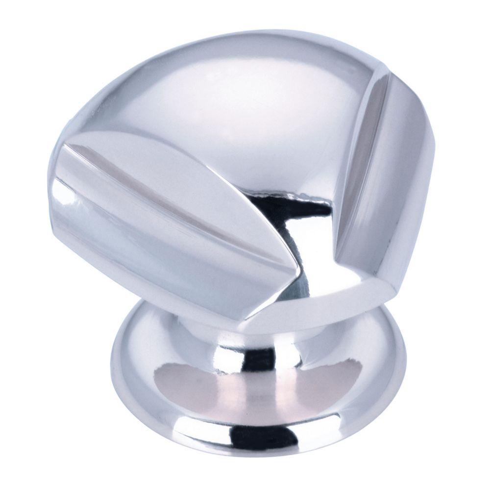 Richelieu Contemporary Brass Knob - Chrome - 30 mm Dia.