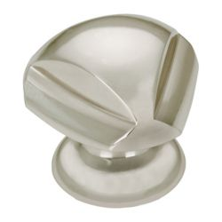 Richelieu Contemporary Brass Knob - Brushed Nickel - 30 mm Dia.
