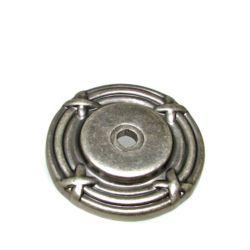 Richelieu Rosette traditionnelle en métal pour bouton 1 1/2 in (38 mm) Dia - Étain - Châteauguay Collection