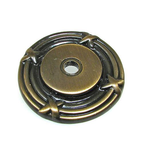 Rosette traditionnelle en métal pour bouton 1 1/2 in (38 mm) Dia - Châteauguay Collection