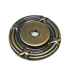 Traditional Metal Rosette for Knob 1 1/2 in (38 mm) Dia - Châteauguay Collection