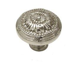 Richelieu Bouton traditionnel en métal 1 1/4 in (32 mm) Dia - Nickel brossé - Châteauguay Collection