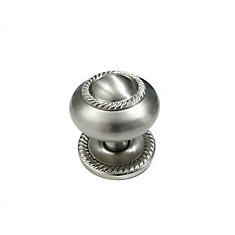 Classic Brass Knob 1 1/2 in (38 mm) Dia - Brushed Nickel - Huntingdon Collection