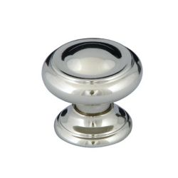 Richelieu Traditional Metal Knob 1 3/16 in (30 mm) Dia - Polished Nickel - Sutton Collection