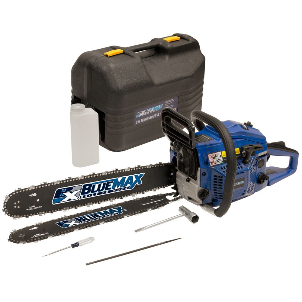 Blue Max 2 in 1   - 14 Inch/20 Inch Combination Chainsaw in Protective Case