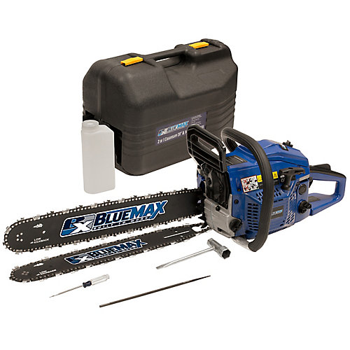 2-In-1 20-inch and 14-inch 45cc Gas Chainsaw Combo with Blow Moulded Case