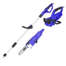 Blue Max 2-in-1 Portable 8-inch Electric Chainsaw with Telescoping Pole