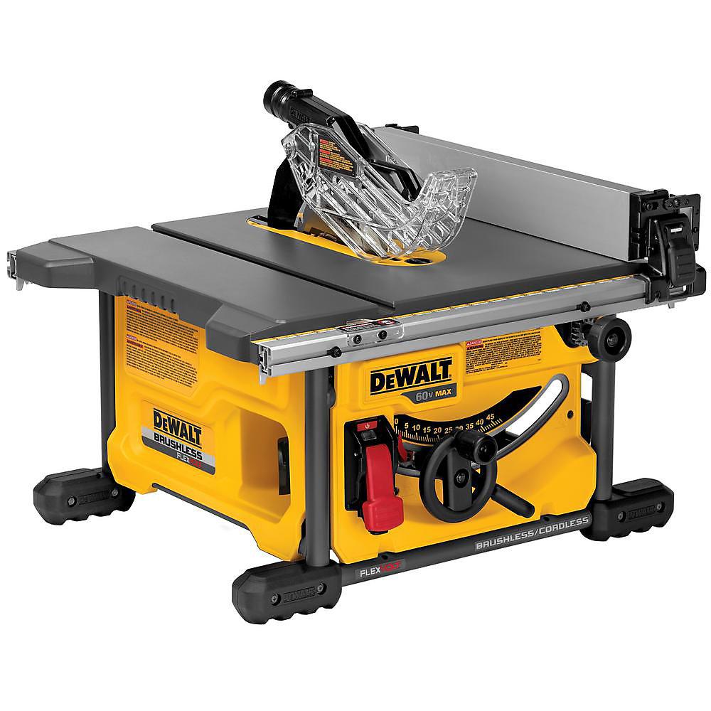 FLEXVOLT 60V MAX FLEXVOLT 60V MAX Scie de table sans fil au lithium-ion sans balai de 8-1/4 po (pour outils seulement)